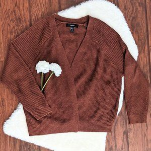 Cozy Brown Cable Knit Cardigan